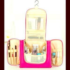 NWT Neon Pink Waterproof, Cosmetic Storage Bag!!